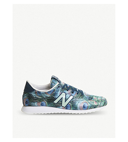 NEW BALANCE U420 peacock-patterned trainers (Peacock green