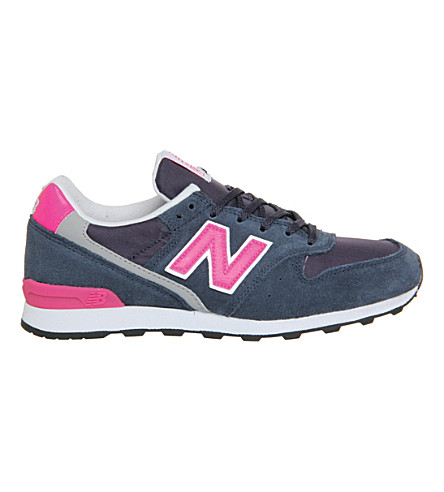NEW BALANCE Wr996 lace-up trainers (Navy pink glo