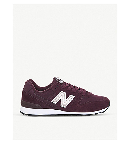 NEW BALANCE 996 suede and mesh trainers (Burgundy
