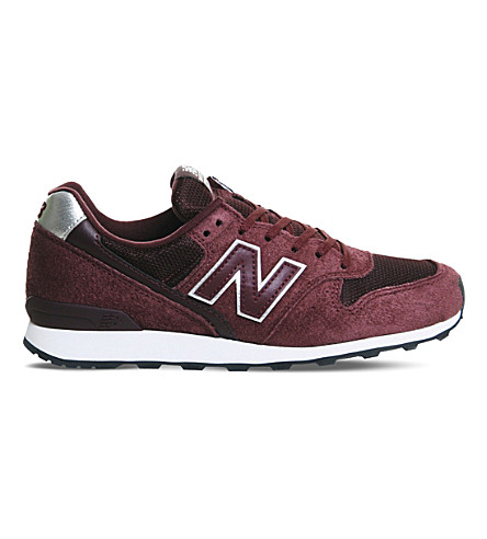 NEW BALANCE 996 suede and mesh trainers (Burg gold athleisure