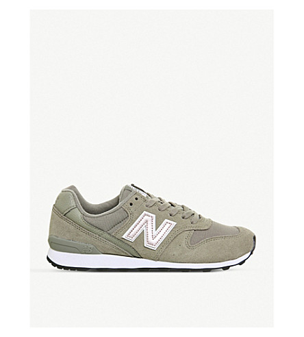 NEW BALANCE 996 suede and mesh trainers (Khaki