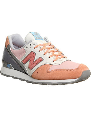 NEW BALANCE 996 suede and textile trainers