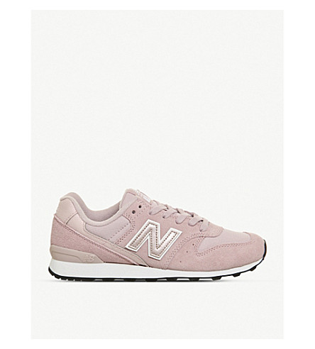 NEW BALANCE 996 suede and mesh trainers (Pink+new