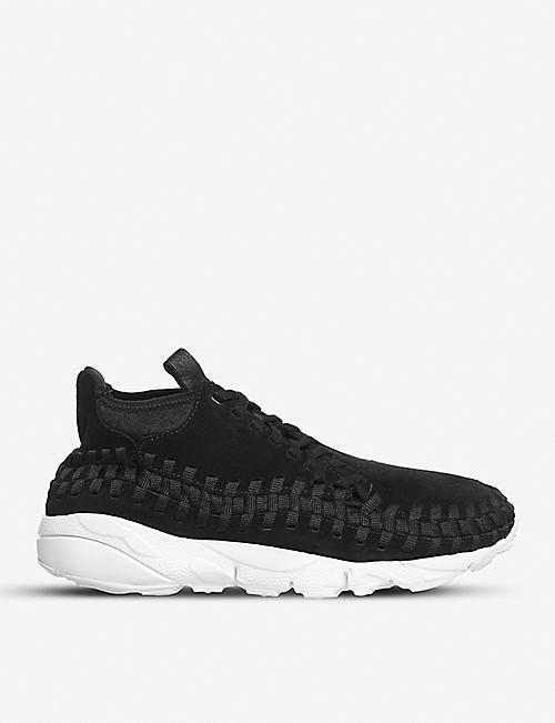 NIKE Air Footscape woven suede trainers