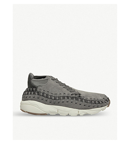 NIKE Air Footscape woven suede trainers (Pewter+light+pumice