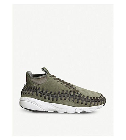 NIKE Air Footscape woven suede trainers (Cargo+khaki+velvet
