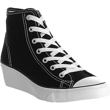 CONVERSE Hi-Ness wedged trainers (Black