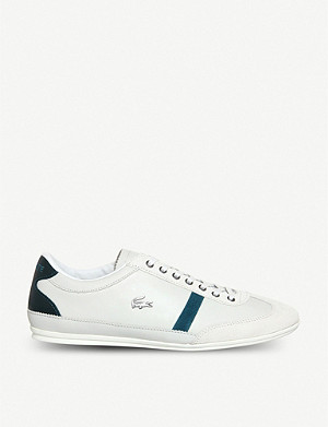 LACOSTE Misano Sport leather lace-up trainers