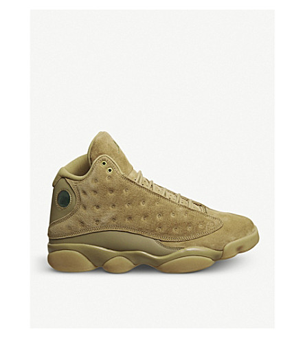 NIKE Air Jordan 13 Retro suede trainers (Elemental+gold+brown