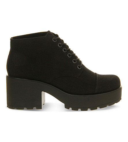 VAGABOND Dioon canvas boots (Black+canvas
