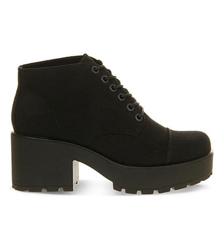 VAGABOND Dioon canvas boots (Black+canvas