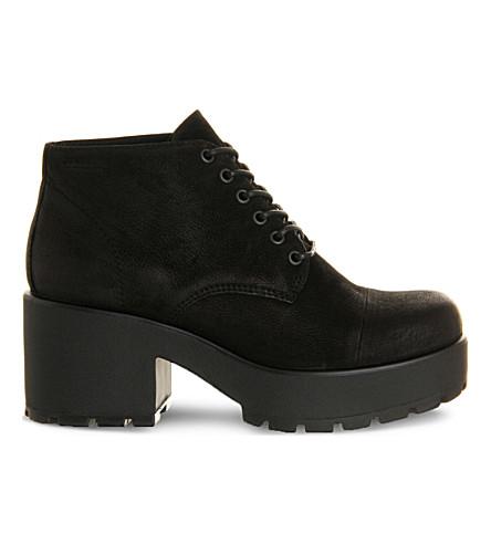 VAGABOND Dioon nubuck boots (Black+nubuck