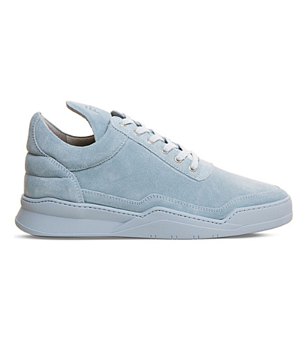 FILLING PIECES Low Top suede sneakers (Tonal+blue