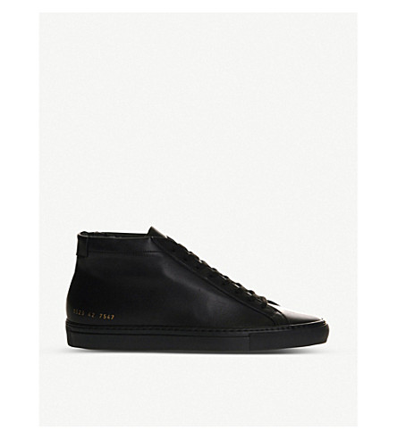 COMMON PROJECTS Achillies mid trainers (Black+mono