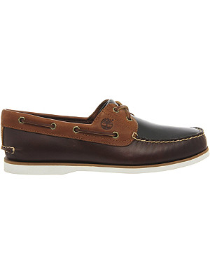 TIMBERLAND Panelled leather boat shoes