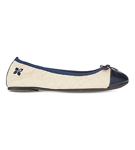 BUTTERFLY TWISTS Olivia foldable ballet pumps (Cream+navy
