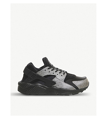 NIKE Air huarache NYC leather and neoprene trainers (Black-silver