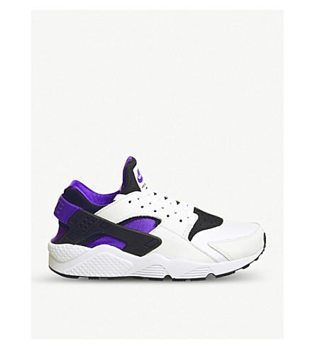 NIKE Nike Air Hurache leather trainers (Black+purple+black