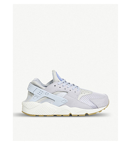 NIKE Air Huarache suede and mesh trainers (Porpoise porpoise