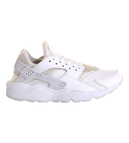 NIKE Air huarache leather trainers (White+white
