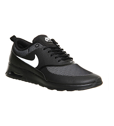 NIKE Air max thea perforated trainers (Black white jaquard