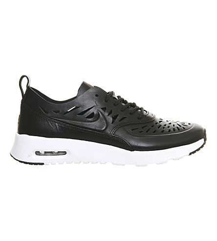 NIKE Air max thea cut-out leather trainers (Cut out black white