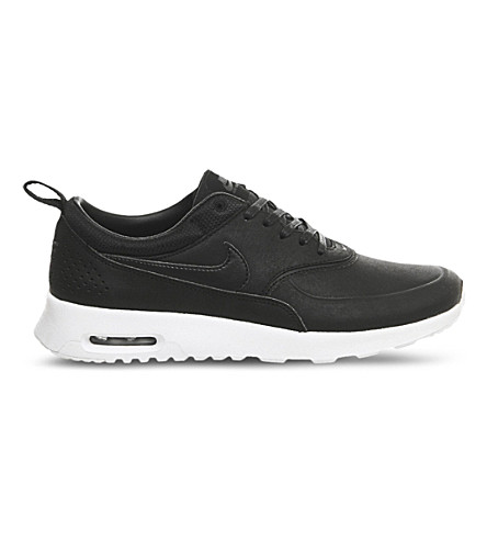 NIKE Two-tone leather air max thea trainers (Black+anthracite