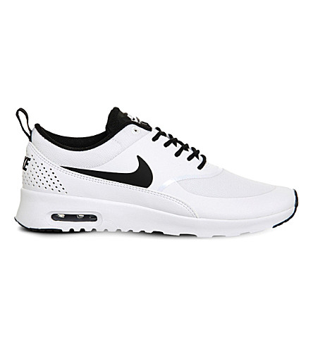 NIKE Air Max Thea leather trainers (White black white