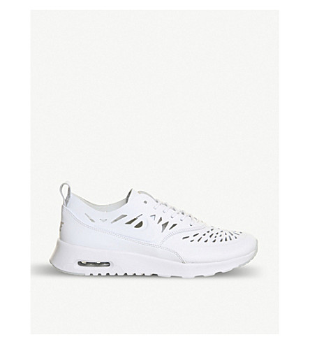 NIKE Air Max Thea leather trainers (Cut out white grey