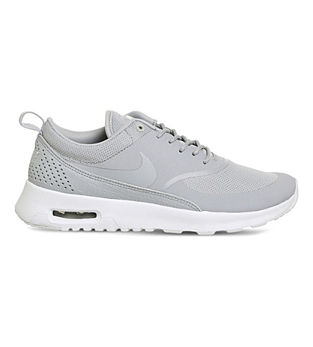 NIKE Air Max Thea leather and mesh trainers (Wolf grey white