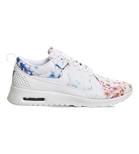 NIKE Air Max Thea leather and mesh trainers (Cherry blossom