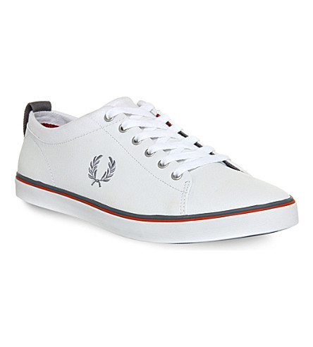 fred perry hallam canvas shoes selfridges