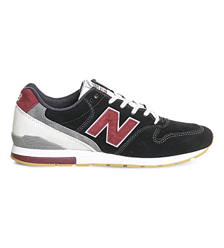 NEW BALANCE MRL996 suede trainers (Black+red+v2