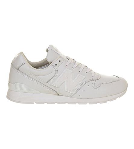 NEW BALANCE 996 leather trainers (White mono