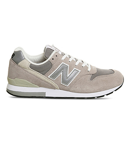 NEW BALANCE MRL996 suede trainers (Steel+white