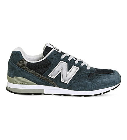 NEW BALANCE MRL996 suede trainers (Navy+black+white