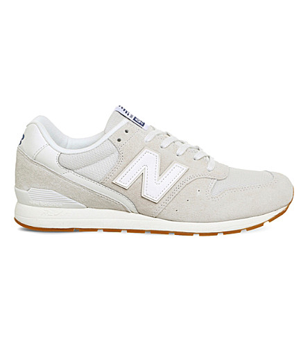 NEW BALANCE MRL996 suede and leather trainers (Cream+white