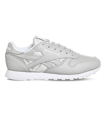 REEBOK Classic leather trainers (Skull+grey+silver