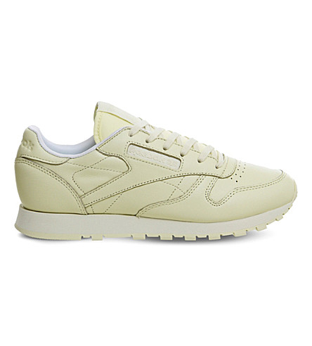 REEBOK Classic leather trainers (Washed+yellow