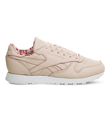 REEBOK Classic Leather low-top trainers (Luna+pink+print