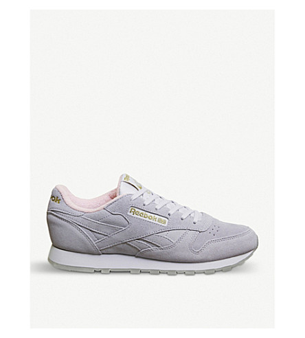 REEBOK Classic suede trainers (Lucid+lilac+pink