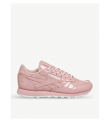 REEBOK Cl patent leather trainers (Pink+glow+white