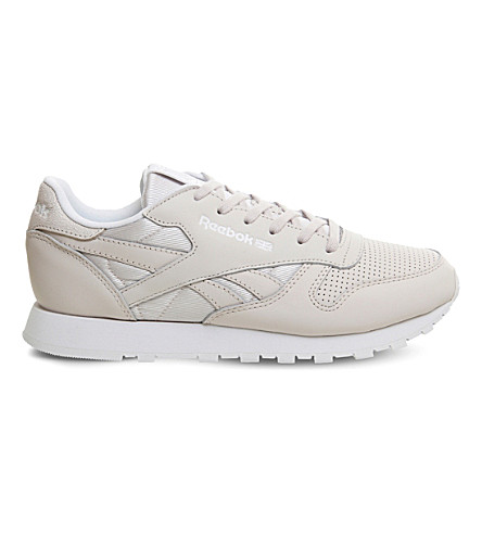 REEBOK Classic leather low-top trainers (Lilac+ash+white+fbt