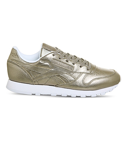 REEBOK Classic Leather trainers (Pearl+metallic+grey