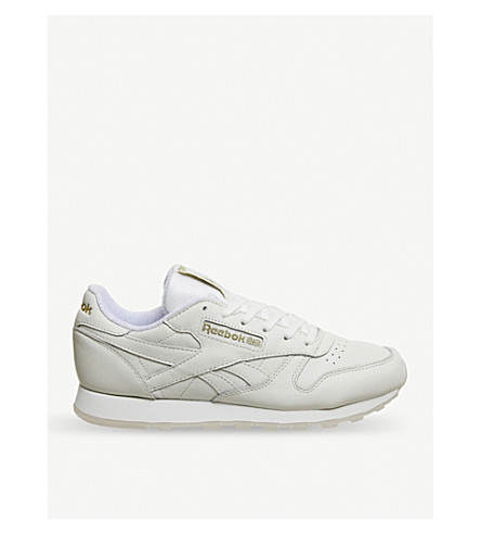 REEBOK CL leather trainers (Chalk+lucid+lilac