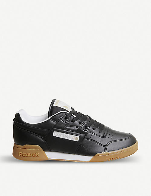 REEBOK Workout Lo Plus leather trainers c423d97bf