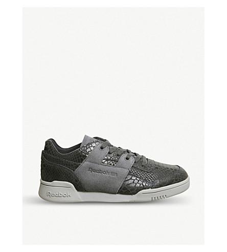 REEBOK Workout plus suede trainers (Ash+grey+foil