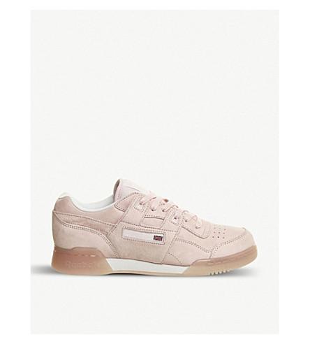 REEBOK Workout Plus nubuck-leather sneakers (Porcelain pink