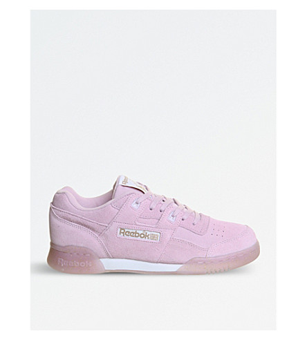 REEBOK Workout plus suede trainers (Shell+purple+ice