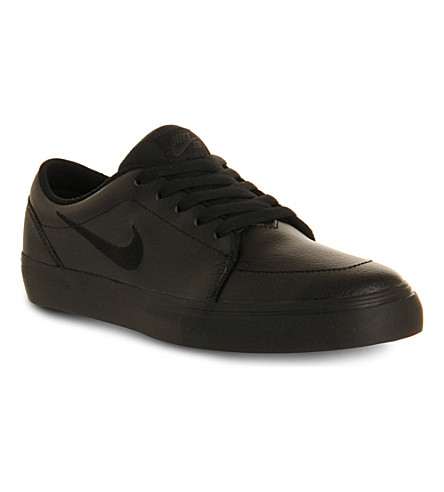 NIKE Satire leather trainers (Black leather